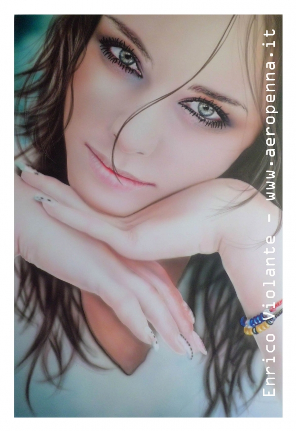 airbrush model portrait