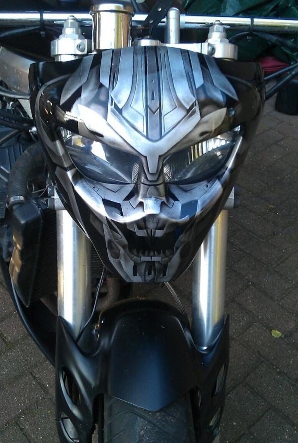 Megatron headlight mask by linkerart