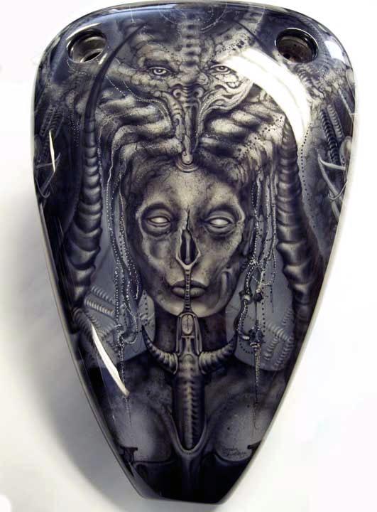 Awesome Geiger-esk Harley Art