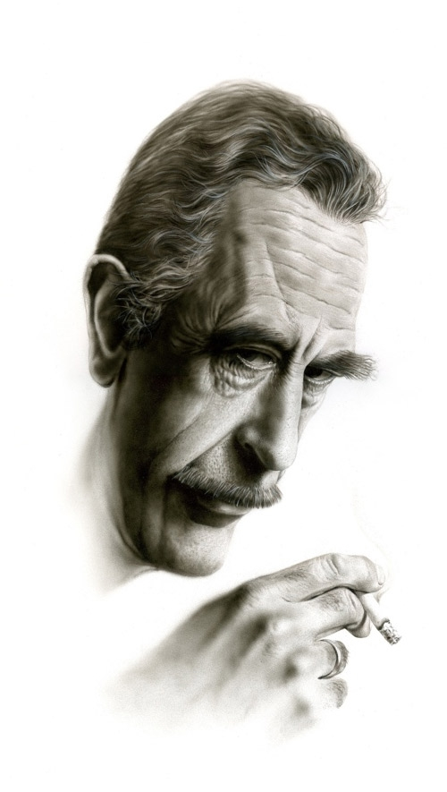 Airbrush #Portraits of Two Polish Actors by Robert Pawlicki