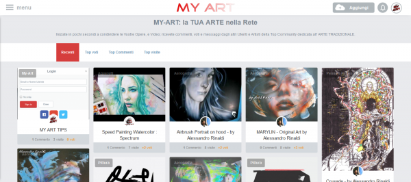 Awesome FREE Traditional #ART #Community - http://my-art.it