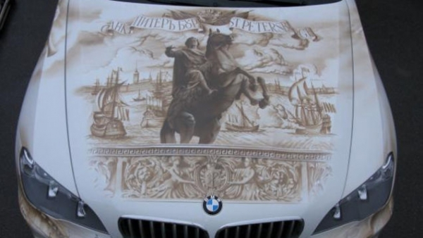 Ridiculous Airbrushed BMW X5...
