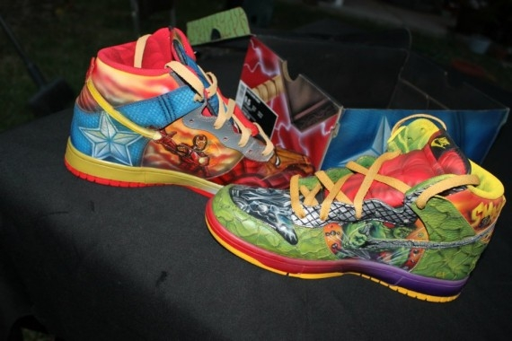 """Nike Dunk High """"What The Vengers"""" Customs By Expression Airbrush - SneakerNews.com"""