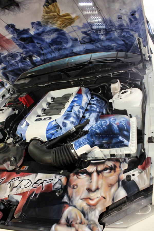 Engine compartment, 2014 Mustang GT. House of Kolor.