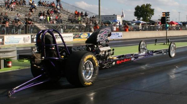 Kandy Flames on Front Engine Dragster