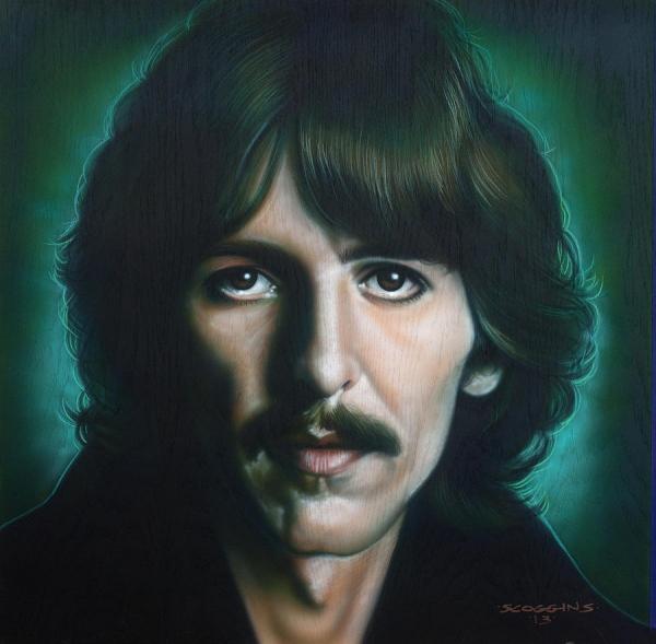 George Harrison by Tim Scoggins - George Harrison Painting