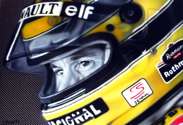 Ayrton Senna by Tom Ryczkowski - Ayrton Senna Painting