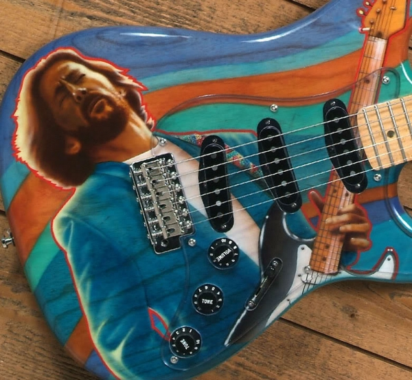 Guitar Blog: Patrick Robert Strats with unique Eric Clapton, Stevie Ray Vaughan and Jimi Hendrix artwork