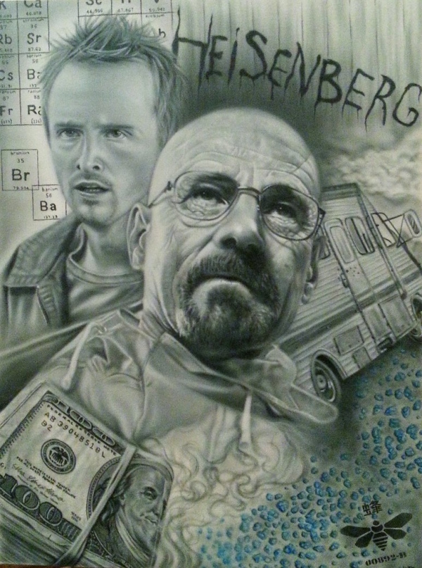 Breaking Bad Airbrush Canvas by maffikus