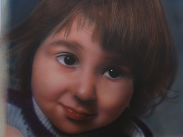 Airbrush photorealistic portrait - workshop
