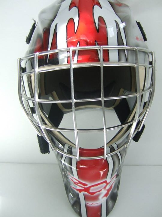 300 Goalie Mask Front