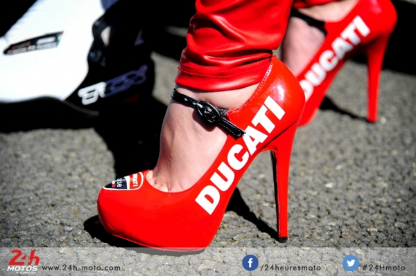 high heels for 24H du mans