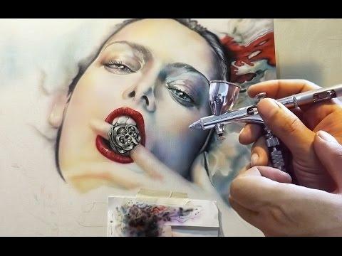 Awesome Step by Step - Airbrush info http://sasbrush.blogspot.com/ - Airbrush Videos