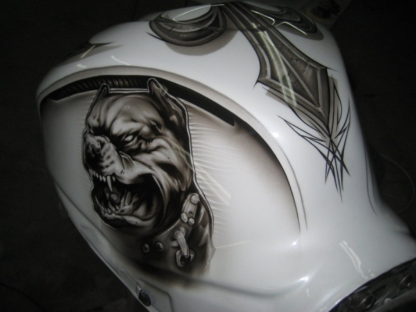 Pitbull tank for gixxer 4 by Jonny5nLala - Airbrush Artwoks