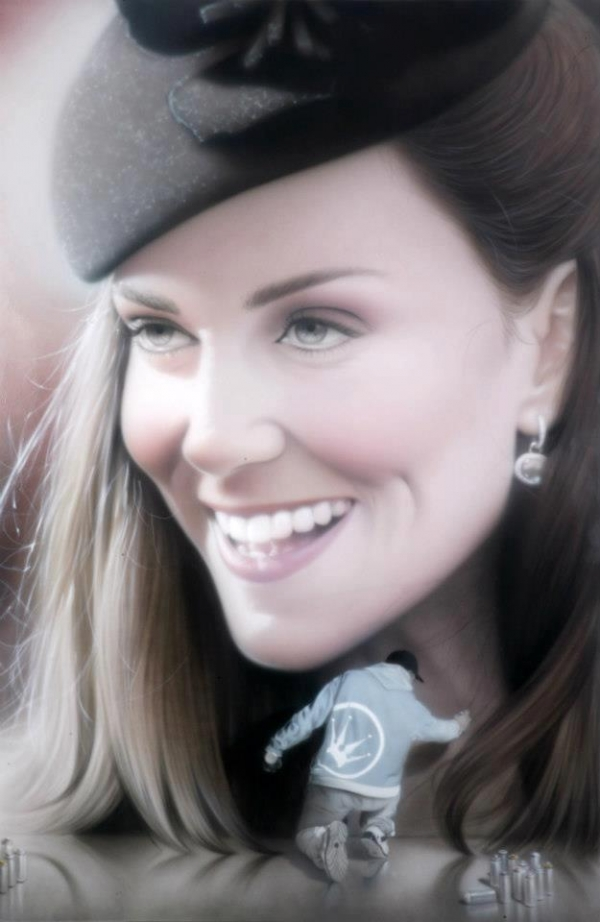 Kate Middleton – Airbrush Portrait by Graffiti artist SOAP | Is This The Future - Fotorealismo