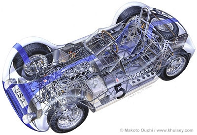 The airbrush artwork of automotive artist Makoto Ouchi