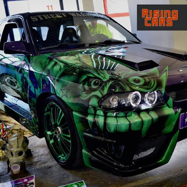 AMTS2015 | Not really the bast place for this Airbush design... - Tuning Cars Airbrush