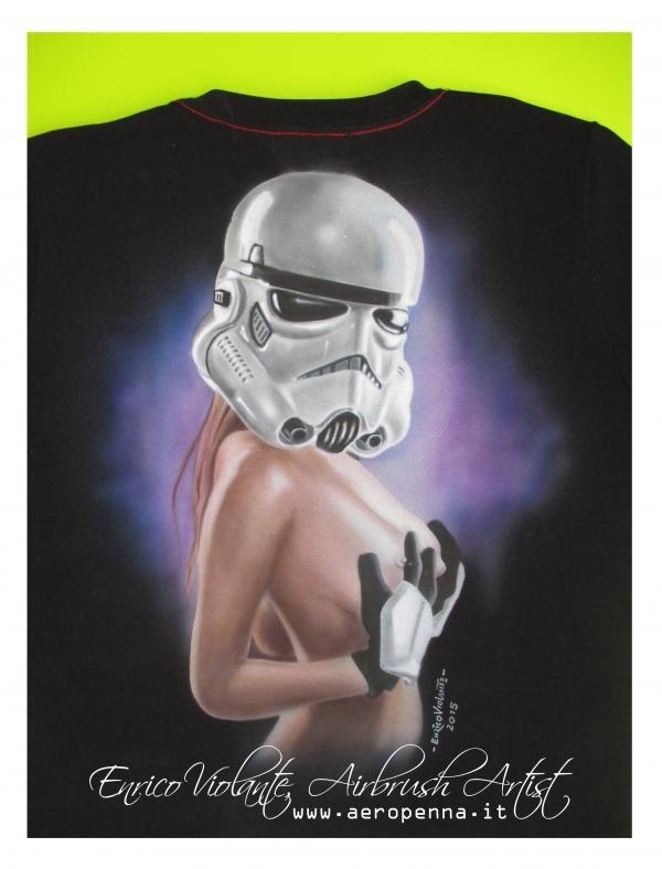 sexy star wars trooper...airbrush on t-shirt