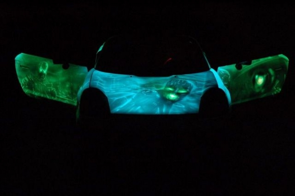 Glowing Car