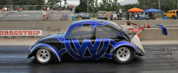 VW Dragcar- paint not wrap - Kustom Airbrush