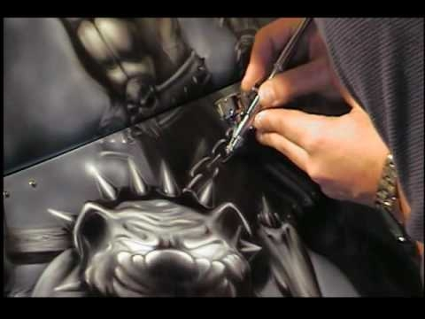 """▶ XSPAINT Airbrushes """"THE EVIL-1"""" Mural - Airbrush Step by Step"""