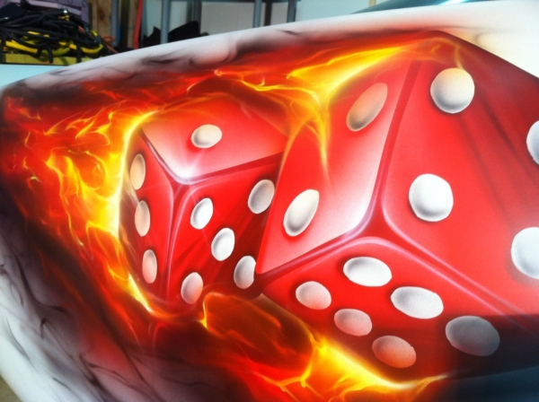 Russ!! here ya go! Dice with smoke 'how to' - Airbrush Forum - Airbrush Step by Step