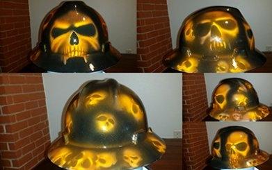Skulls hard hat by ZimmerDesignZ.com