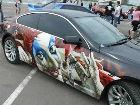 AIRBRUSH ART: EXOTIC CAR WITH PAINTING AIRBRUSH
