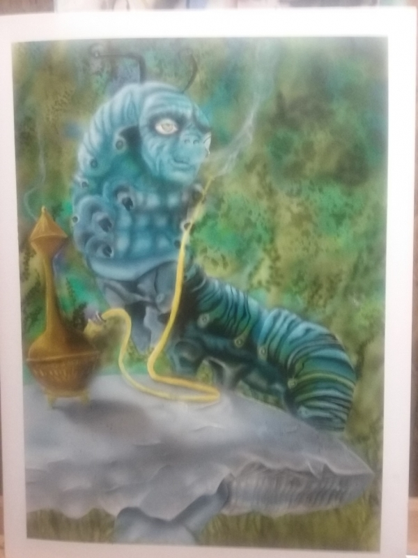 more alice in wonderland airbrush art