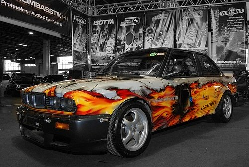 Old BMW,New Airbrush paintjob