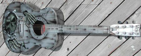 kustom painted acoustic - Kustom Airbrush