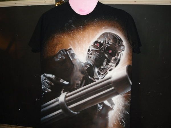 Terminatoron Tshirt by airbrush77 - Airbrush Artwoks
