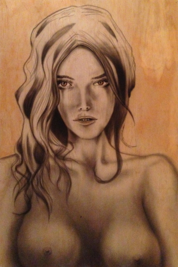 'PlyGirl' sexy girl on plywood