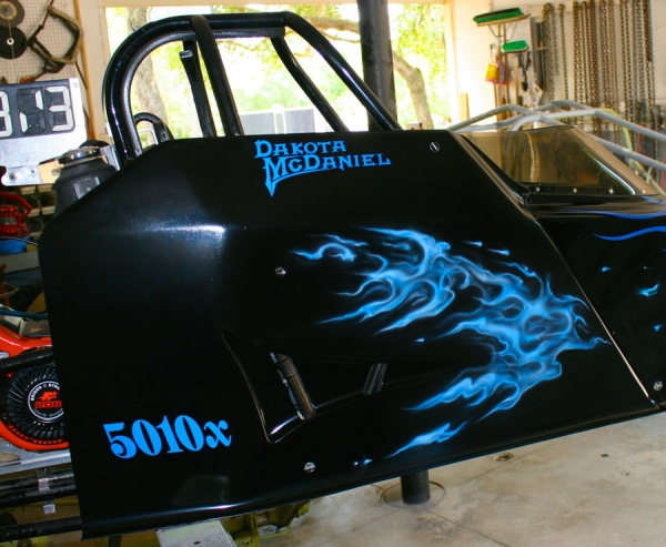 real fire on dragster - Kustom Airbrush