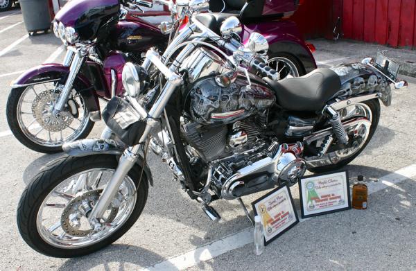 custom skulled bike