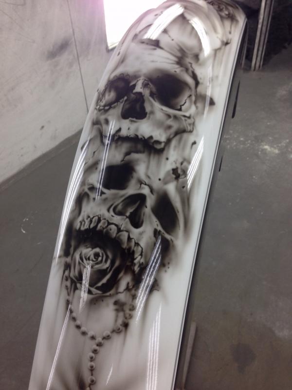 airbrush on fender