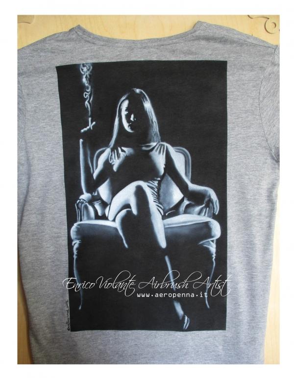 airbrush on t-shirt