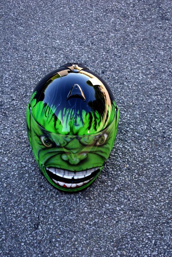 hulk motorcycle helmet