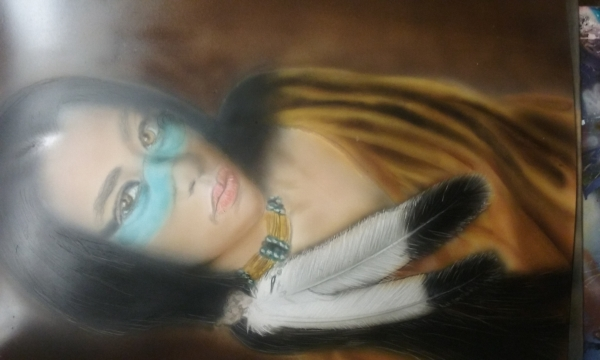airbrushed on Illastraition board.