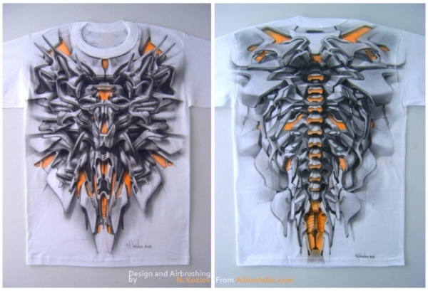 t-shirt made with airbrush