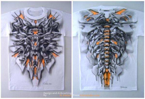 t-shirt made with airbrush - Favorite Art