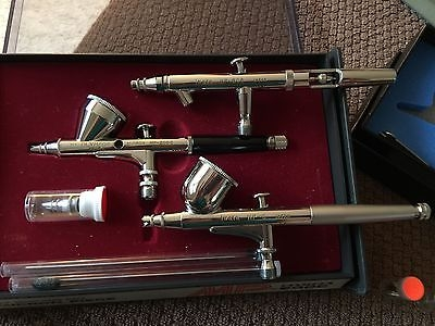 $305 - Bid for Iwata Olympos Vega Airbrush Collection Mint Condition - My Favorite on JustAirbrush