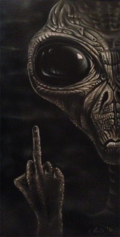 Alien, not so nice. - myStuff