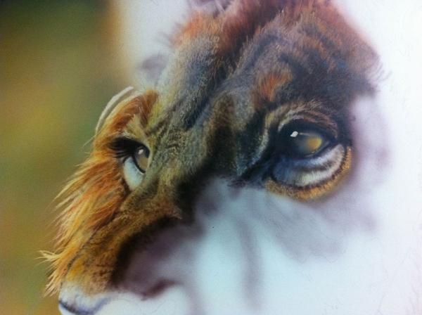 Airbrush tutorial, Realistic Lion by Haasje - airbrushtutor