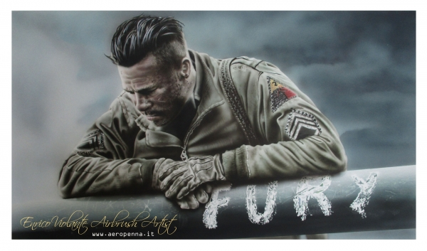 FURY, airbrush illustration on paper