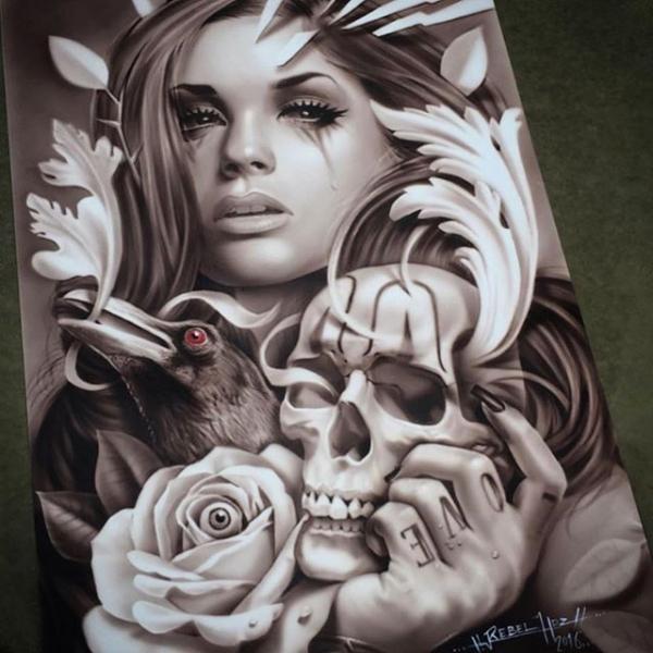 Airbrush On Metal Panel Just Airbrush