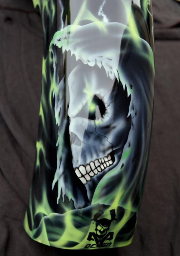 harley Davidson skull grim reaper - AADesign Kustom Airbrush
