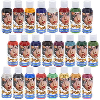 $142.96 - 24 Color 2oz Airbrush Face & Body Art Paint Kit Water-Based Custom temp tattoo or bodyart - Just Stuff