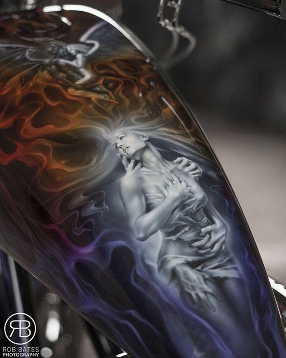 Beautiful Airbrush art on tank - ART