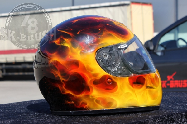 Airbrush True Fire Helmet Painting